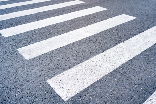 Close up crosswalk